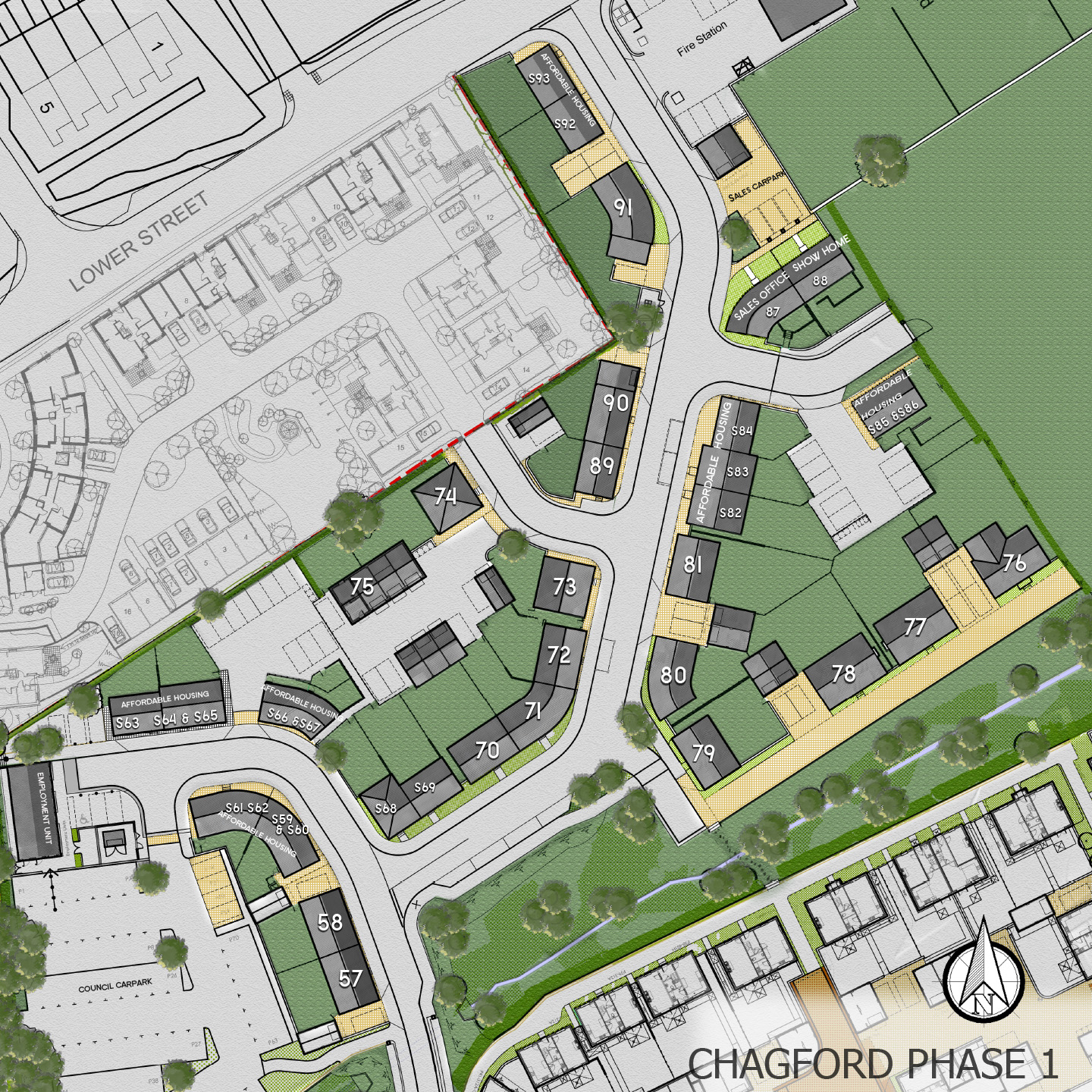 Chagford Phase 1 Site plan